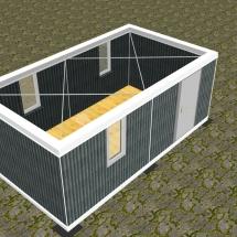 Grund + 1x Zusatz ohne Dach